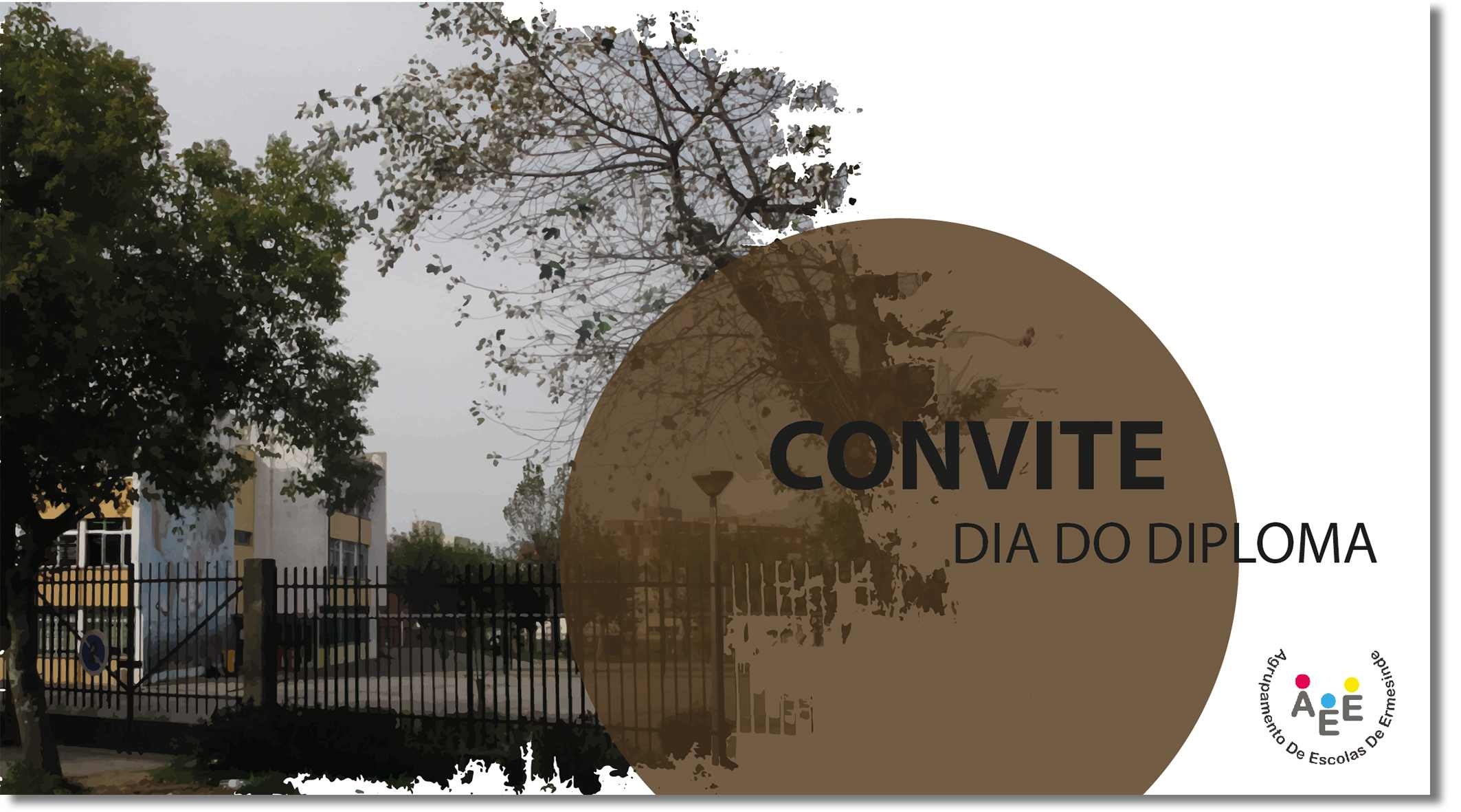 Convite dia do diploma shadow